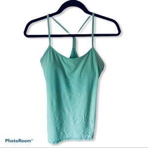 Lululemon Y Mint Green Tank Top Bra Size 8